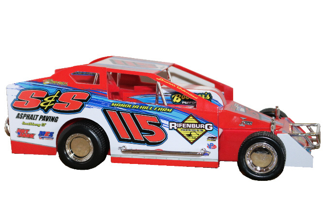 Kenny Tremont 2020 #115 Red number Hard Plastic Toy car
