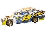 Jared Umbenhauer 2018  #19 Hard Plastic Toy car