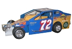 Charlie Rudolph#72R Hard Plastic Toy car Blue