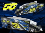 Slot Magic 2 Dirt Modified body - Perry Francis #55