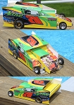 Slot Magic 2 Dirt Modified body - Mike Illes #711