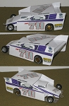 Slot Magic 2 Dirt Modified body - Dave Kneisel #711