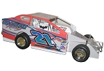 Pete Britten 2017 Oswego Big Block #21A Hard Plastic Toy car