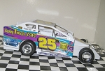 Eric Rudolph 2016  #25R Hard Plastic Toy car