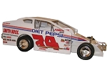 Jeff Heotzler car #74 Hard Plastic Toy car