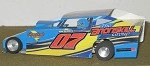 Slot Magic 1 Dirt Modified body - Tim Kerr #07 2013