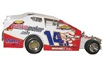 Alan Johnson 2005 Syracuse car #14J Hard Plastic Toy car