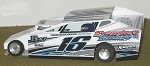 Slot Magic 1 Dirt Modified body - Mike Bowman #16 2013