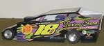 Slot Magic 1 Dirt Modified body - Jason Rood #18J 2013