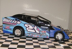 Pete Britten 2015 Syracuse car #21AHard Plastic Toy car
