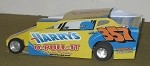 Slot Magic 1 Dirt Modified body - Frank Cozze #357 2013