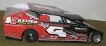 Slot Magic 1 Dirt Modified body - Jeff Strunk #4 2013