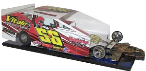 Slot Magic 3 Dirt Modified body - Vince Vitale 2015  Car #56