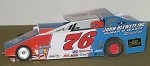 Slot Magic 1 Dirt Modified body - Jim Blewett #76 2013