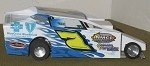 Slot Magic 1 Dirt Modified body - Scott Kerwin #7 2013