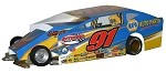 Slot Magic 1 Dirt Modified body - Billy Decker #91 2012 SYR