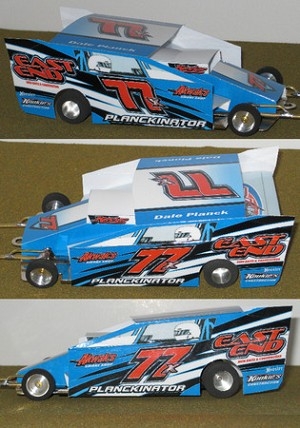 Slot Magic 2 Dirt Modified body - Dale Planck #77x 2007