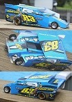 Slot Magic 2 Dirt Modified body - Tom Sears #83x 2007