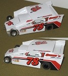 Slot Magic 2 Dirt Modified body - Maynard Forrett #78