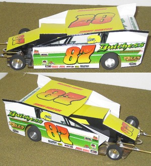 Slot Magic 2 Dirt Modified body - Jimmy Horton #87 1994