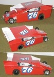 Slot Magic 2 Dirt Modified body - Gerald Chamberland #76