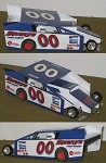 Slot Magic 2 Dirt Modified body - Buzzie Reutimann 1975 #00