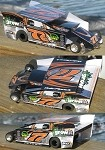 Slot Magic 2 Dirt Modified body - Dale Planck 2009 #77x