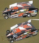 Slot Magic 2 Dirt Modified body - Ronnie Johnson #2RJ 2009 SYR