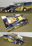 Slot Magic 2 Dirt Modified body - Bobby Varin #1J 2007 SYR