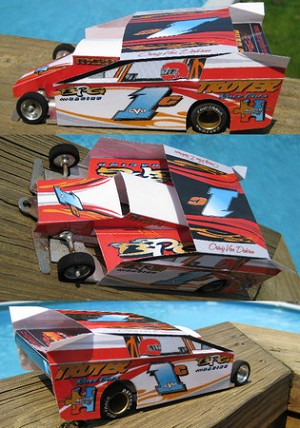 Slot Magic 2 Dirt Modified body - Craig Vondohren #1C 2009