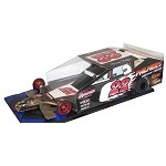 Slot Magic 3 Dirt Modified body - Dave Lape 2008 Car  #22