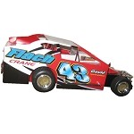 Keith Flach 2008 Syracuse Big Block #43 Hard Plastic Toy car