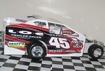 Dan Heschke 2015 Sportsman car #45 Hard Plastic Toy car