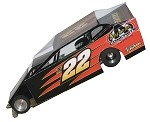 Slot Magic 1 Dirt Modified body - Chuck Hossfeld #22 2012